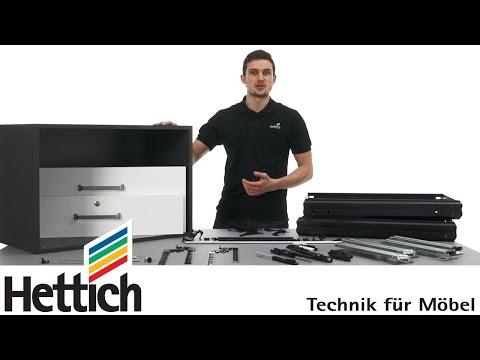 Systema Top 2000: Schrankwand-Montage mit Hettich Büroorganisation