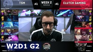 Video TSM vs Clutch Gaming | Week 2 Day 1 S8 NA LCS Summer 2018 | TSM vs CG W2D1 MP3, 3GP, MP4, WEBM, AVI, FLV Agustus 2018