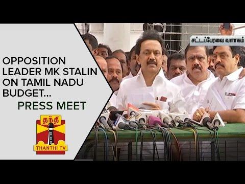 Opposition-Leader-M-K-Stalin-on-Tamil-Nadu-Budget--Thanthi-TV