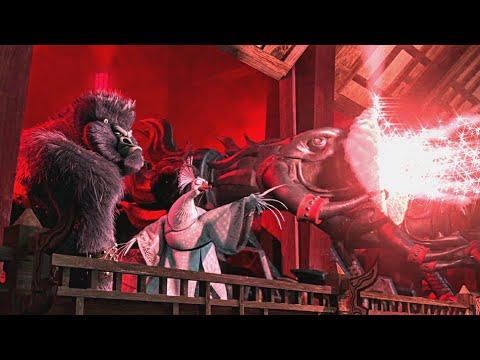 Destroying Gongmen Tower & Po Escape | Kung Fu Panda 2 🐼