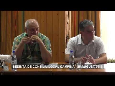 Ședința Consiliului Local Câmpina din 25 august 2016