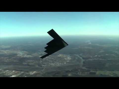 B-2 Spirit Stealth Bomber in Flight!...