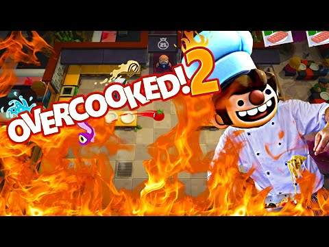 Cant Cook! Kitchen Mayhem! | Overcooked 2 #1  Overcooked 2 2 Player