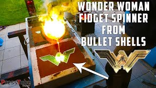 Casting Brass Wonder Woman  Fidget Spinner from empty bullet shells.In this video I am making a Wonder Woman Fidget Spinner from empty bullet shells which i bought at the local shooting range in Antwerp (I live in a small  town in the North of Antwerp-Belgium)Special thanks to Pat from 'LePicBois' YouTube channel for the fidget spinner stands !Check out his channel here : https://www.youtube.com/channel/UCcM_SykaFqrxVnq52MjI6UACheck the video were he made the stands here  : https://www.youtube.com/watch?v=KMFq8f-LOqkCheck out the website and link to the Copper Gear spinner which is shown at the end.Copper Gear Spinner : https://goo.gl/RPiQcFWebsite : https://goo.gl/Jf71mBThe winner can choose between the spinner or the shipping costs to send the spinner (50 euro)===============Giveaway Link  : http://bit.ly/WonderWomanSpinnerPlease do not flood my e-mail or Facebook private message box for the giveaway :)) I am not picking the winners personally. Once the giveaway is over I click the button 'choose winners' and gleam picks the winners automaticly.================Support my creativity on Patreon : http://bit.ly/SupportPressTube SocialBlade PressTube Stats : http://bit.ly/PressTubeStatsIf you liked this video, please consider to give it a thumbs-up so I know you liked the video.Thanks !Full Description :In this video I am making a Wonder Woman Spinner from Empty bullet shells. It was requested a lot in the comment section aswell via email and facebook.Our Casting Videos :YouTube PlayButton : http://bit.ly/PlayButtonsSuperman Logo : http://bit.ly/SuperManLogoBatarangs : http://bit.ly/BatarangsBugatti Logo : http://bit.ly/BugattiLogoFlash Logo : http://bit.ly/TheFlashLogoPlayBoy Bunny : http://bit.ly/PlayBoyLogoGreen Lantern Logo : http://bit.ly/GreenLanternLogoOverWatch Logo : http://bit.ly/LogoOverWatchFaZe-Clan Logo : http://bit.ly/CastingFaZeBrofist PewDiePie : http://bit.ly/CastingBrofistFuture Casting Videos :ChevroletAvengersBatmanRazergalactic empire logoRebel A