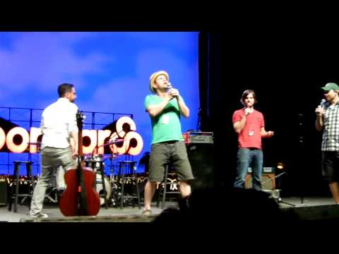 Bonnaroo 2011: The League Live - Stephen Rannazzisi/Kevin Shiva blasting