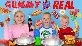 Video Gummy Makanan vs Real Food Tantangan MP3, 3GP, MP4, WEBM, AVI, FLV September 2017