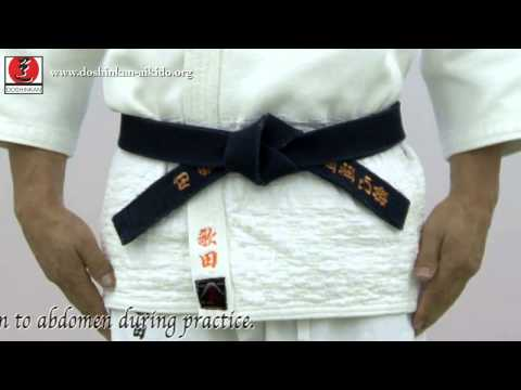 How to tie an OBI (belt) for Aikido and Aiki-jujutsu