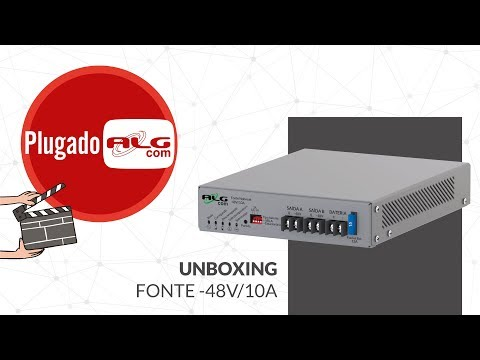 UNBOXING! Fonte Nobreak -48V/10A