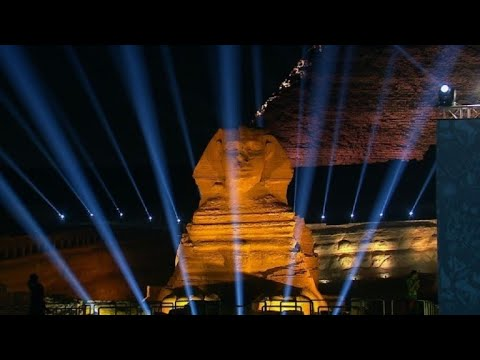 Football: Giza pyramids ahead of AFCON 2019 draw ceremony start