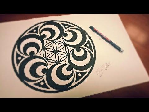 Doppler Effect Mandala ❉ How To Draw Geometric Art