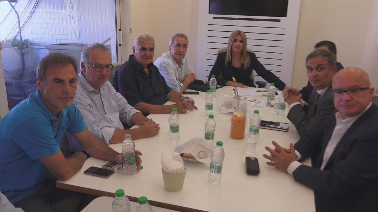 Συνάντηση Φώφης Γεννηματά με αντιπροσωπεία της ΓΣΕΕ