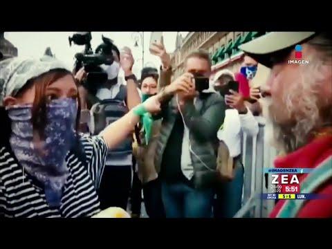 Padre de joven asesinado enfrenta a feminista   Noticias con Francisco Zea