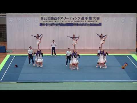 中学校Div1優勝 梅花中A Jr.RAIDERS A /第26回関西チアリーディング選手権大会2017