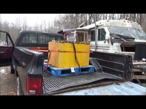 Servicing An Old Forklift Battery For Home Solar Power PT II