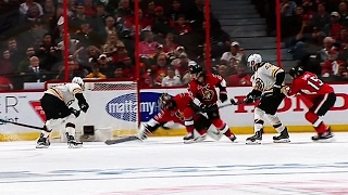 Watch as Sean Kuraly scores in double overtime to lift the Bruins over the Senators and force Game 6.
