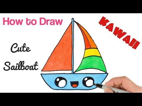 How to Draw  Cute Sailboat for kids step by step_A héten feltöltött legjobb vitorlázás videók