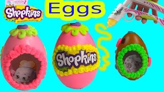 Shopkins Sugar Easter Egg Inspired Playdoh Frosting DohVinci DIY Play Doh Vinci Fun Season 2 Craft - YouTube