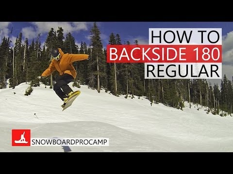 How to 180 Backside in the Park – Snowboarding Tricks Regular