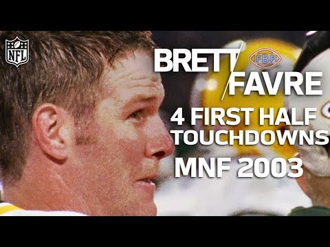 Video: Remember when Brett Favre Honored his Late Father with 4 First Half TD Passes? | NFL Highlights