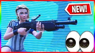 *NEW* LEGENDARY WEAPON Gameplay in Fortnite Battle Royale (New Pump Shotgun)