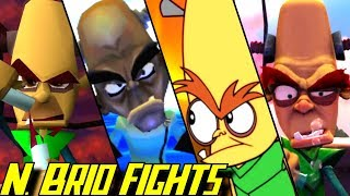 Compilation of all Dr. N. Brio boss battles in Crash Bandicoot games starting in 1996  for PS1, PS2, PSP Xbox, Gamecube, Xbox 360, GBA, Wii, NDS and PS4 (1080p & 60fps)   Enjoy - Rate - Comment - Subscribe =) ►Activate the description for the order of the bosses!!Every boss fight:Crash Bandicoot (1996 - PS1):00:00 Dr. N. BrioCrash Twinsanity (2004 - PS2, Xbox):00:58 N. Tropy and N. BrioCrash: Mind over Mutant (2008 - PS2, Xbox 360, GBA, Wii, PSP, NDS)03:22 Crunch and N. Brio07:28 Crash Bandicoot N. Sane Trilogy (2017 - PS4)All Dr. N Brio boss fights in the Crash Bandicoot game series for PS1, PS2, PSP Xbox, Gamecube, Xbox 360, GBA, Wii NDS and PS4 in 1080p/60fps►No Commentary Gameplay by ProsafiaGaming (2017)◄