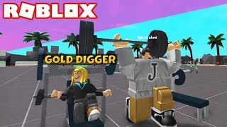 ROBLOX GOLD DIGGER AT THE GYM