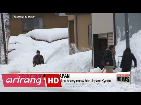 У Японії тривають сильні снігопади та морози (відео)