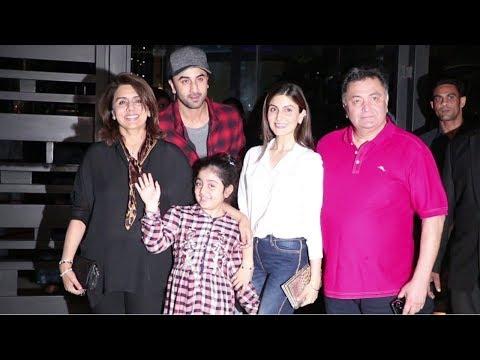 Ranbir Kapoor, Rishi Kapoor & Kapoor Family Spotted At Nara Thai Cuisine, Mumbai