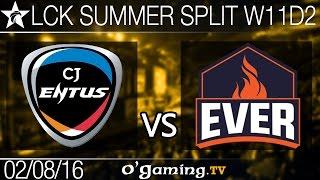 CJ Entus vs ESC Ever - LCK Summer Split 2016 - W11D2