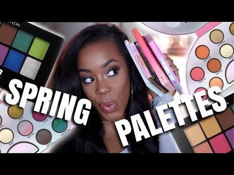 5 COLORFUL PALETTES FOR SPRING | SWATCHES & DUPES? | Andrea Renee