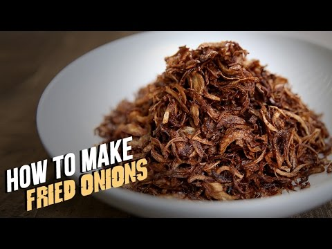 How To Make Fried Onions | The Bombay Chef – Varun Inamdar | Basic Cooking