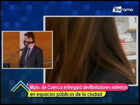 Mun. de Cuenca entregará desfibriladores externos en espacios públicos de la ciudad