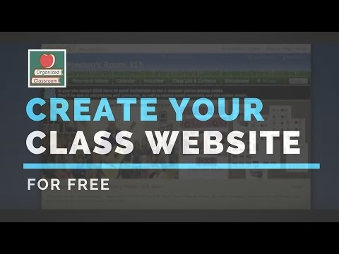 Create Your Class Website for FREE!