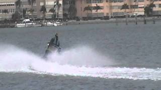 10. kawasaki video Jan 31 2012.///  cobra jet steering on a 250 hp supercharged jet ski