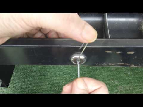 how to open a locked desk drawer without a key 2