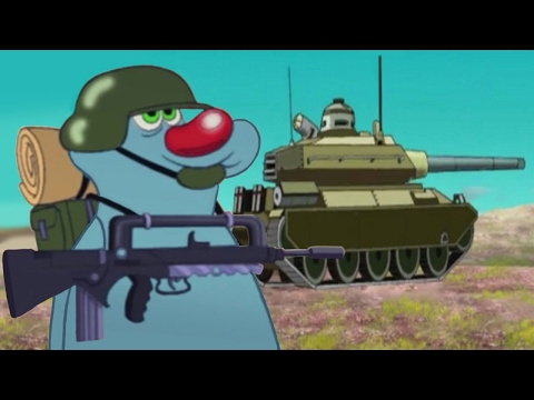 Download Oggy and the Cockroaches Military compilation #28 HD Mp4 3GP Video and MP3