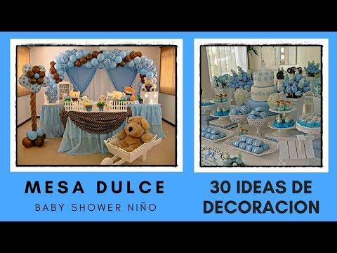 Mesa Dulce Baby Shower NiÑo - 30 Ideas De Decoracion