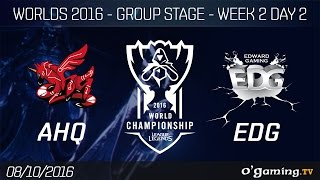 AHQ vs EDG - World Championship 2016 - Group Stage Week 2 Day 2