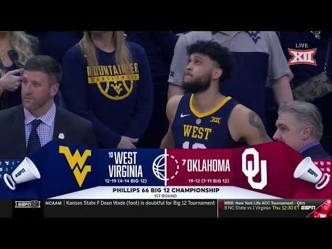 West Virginia vs Oklahoma Men's Basketball Highlights