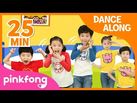 Five Little Monkeys and more   Best Kids Dance Along   +Compilation   Pinkfong Songs for Children