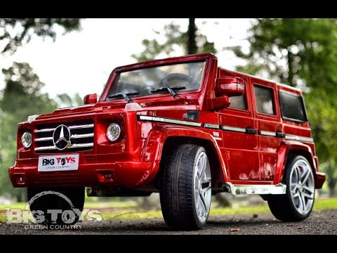 Kids Power Wheel Mercedes G55 AMG with leather seat and rubber tires