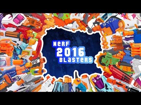 Every Nerf 2016 Blasters!