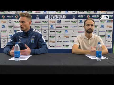 Presskonferens efter ÖSK - IK Sirius