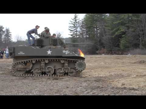 VIDEO: Retirees build a flame-throwing tank!