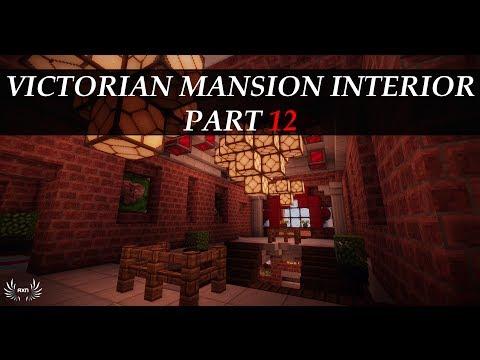 Minecraft Tutorials – Victorian Mansion Interior [Part 12/12]