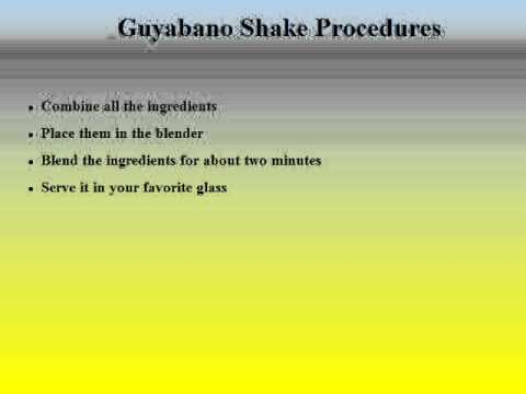 Guyabano Fruit Shake Recipe