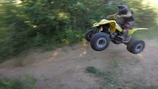 7. Suzuki LTZ400 Hitting Jumps and Throwing Whips | GoPro