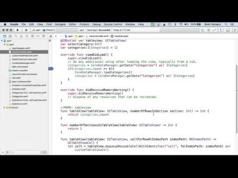 Learn To Build Your First Professional iOS App - Core Data Manager Class Part C
