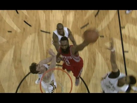 James Harden dunks on Omer Asik and Anthony Davis!