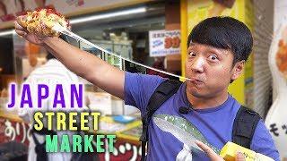 Japan STREET FOOD TOUR of Ameyoko Market in Tokyo Japan
